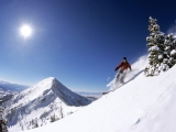 Telemark Skiing in the Bridger Mountains, Montana