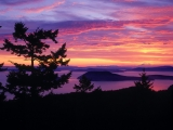 San Juan Islands at Sunset, Puget Sound, Washington